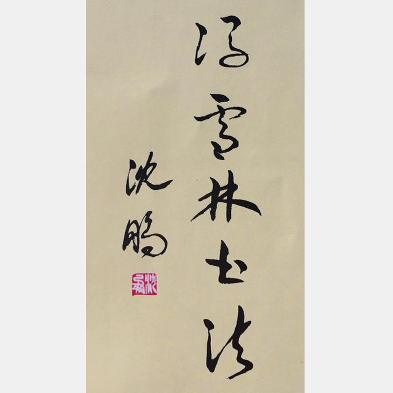 中国书法书法家协会主席沈鹏为冯雪林题词