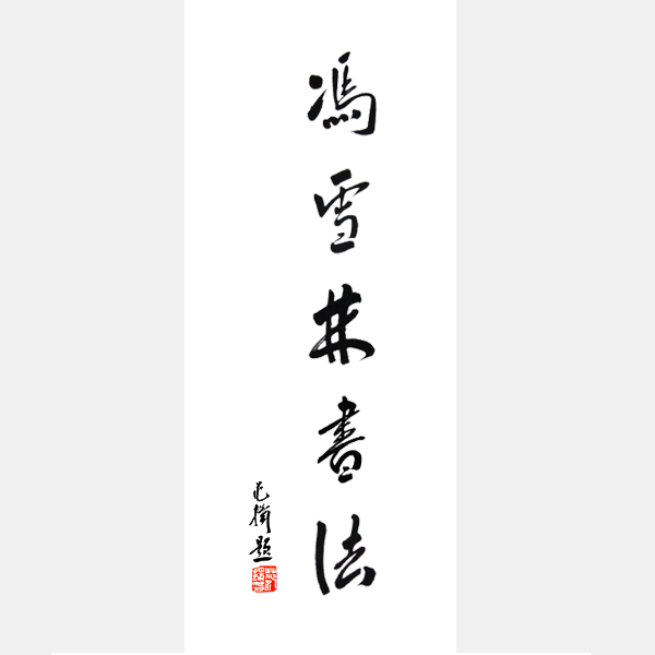 中国国家画院国画院副院长、南京书画院院长范扬为冯雪林先生题词