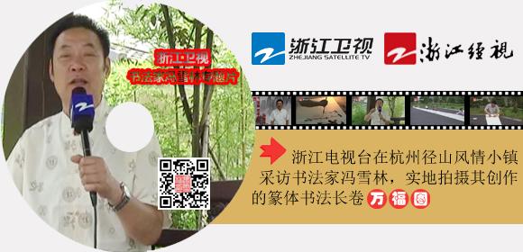 浙江电视台:书法家冯雪林专题片(书法长卷万福图)