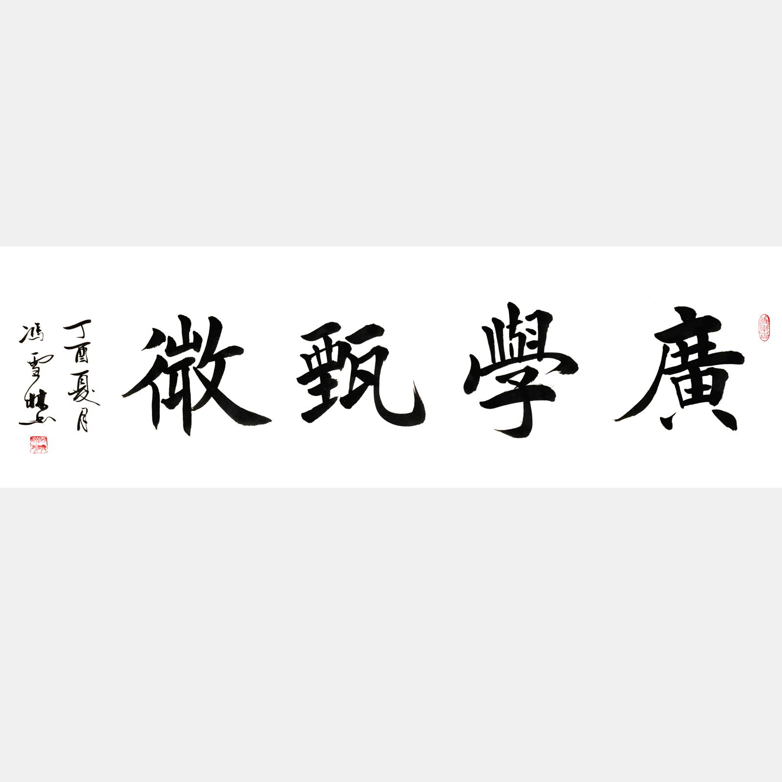广学甄微 楷书书法作品 四尺横幅