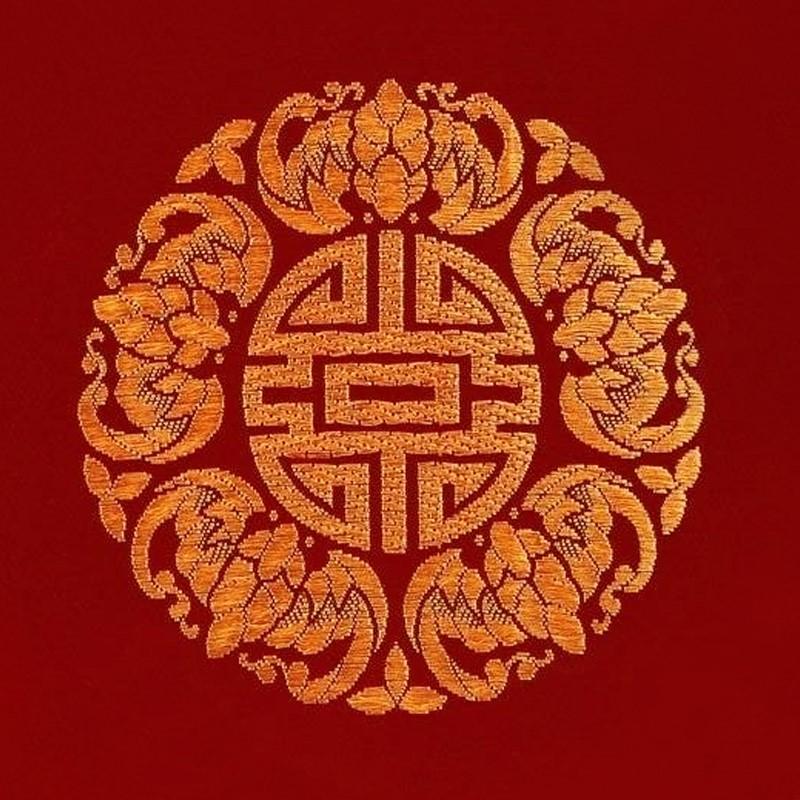 锦缎民俗工艺品――五福(蝠)临门