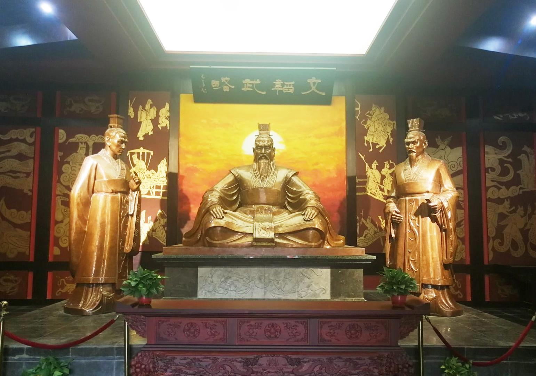 安徽亳州魏武祠三曹塑像