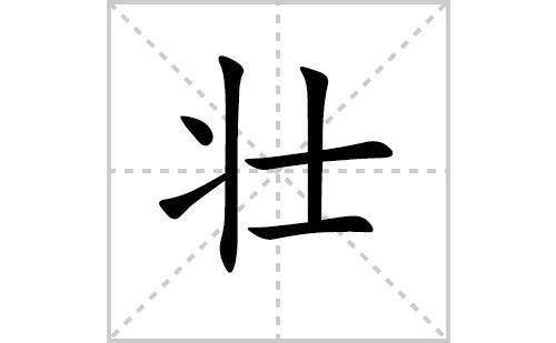 壮的笔顺笔画怎么写(壮的笔画、拼音、解释及成语详解)