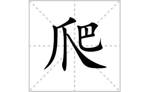 爬的笔顺笔画怎么写(爬的笔画、拼音、解释及成语详解)