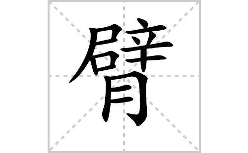 臂的笔顺笔画怎么写(臂的笔画、拼音、解释及成语详解)