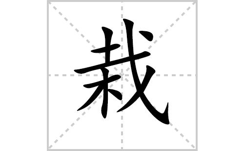 栽的笔顺笔画怎么写(栽的笔画、拼音、解释及成语详解)