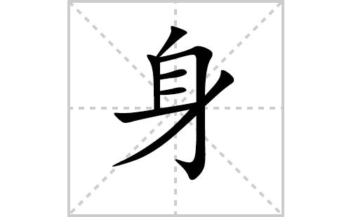 身的笔顺笔画怎么写(身的笔画、拼音、解释及成语详解)
