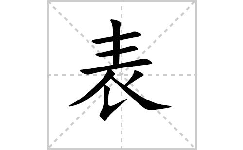 表的笔顺笔画怎么写(表的笔画、拼音、解释及成语详解)