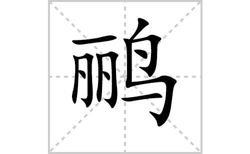 鹂的笔顺笔画怎么写(鹂的笔画、拼音、解释及成语详解)