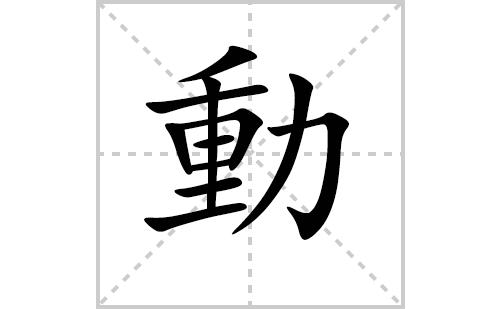 動的笔顺笔画怎么写(動的笔画、拼音、解释及成语详解)