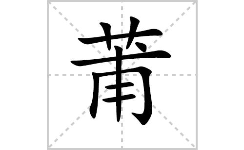 莆的笔顺笔画怎么写(莆的笔画、拼音、解释及成语详解)