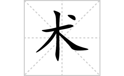 术的笔顺笔画怎么写(术的笔画、拼音、解释及成语详解)