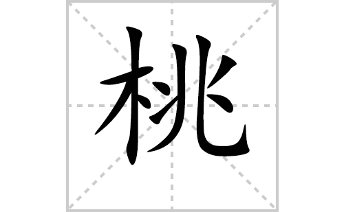 桃的笔顺笔画怎么写(桃的拼音、部首、解释及成语解读)