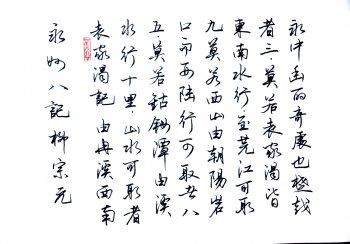 行书字帖欣赏钢笔(最漂亮的钢笔行书字帖)