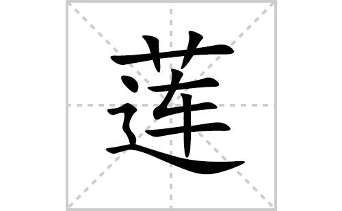 莲的笔顺笔画怎么写(莲的拼音、部首、解释及成语解读)