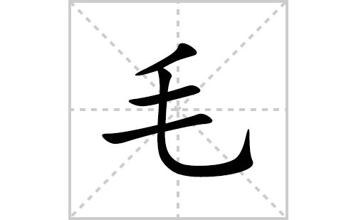 毛的笔顺笔画怎么写(毛的拼音、部首、解释及成语解读)