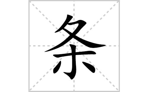 条的笔顺笔画怎么写(条的拼音、部首、解释及成语解读)