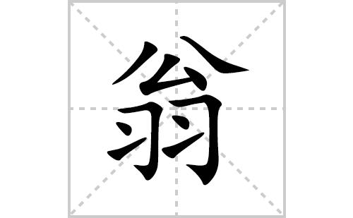 翁的笔顺笔画怎么写(翁的拼音、部首、解释及成语解读)