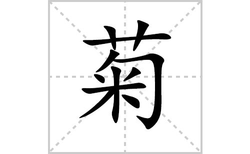 菊的笔顺笔画怎么写(菊的拼音、部首、解释及成语解读)