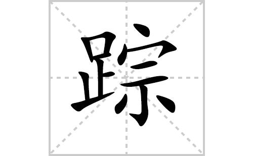 踪的笔顺笔画怎么写(踪的拼音、部首、解释及成语解读)