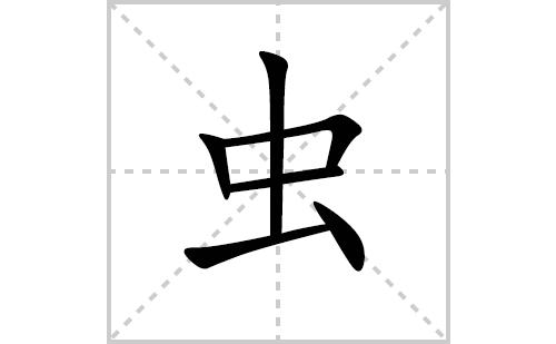 虫的笔顺笔画怎么写(虫的拼音、部首、解释及成语解读)